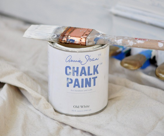 as chalk paint old white