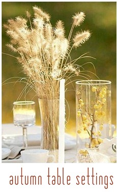 autumn table settings