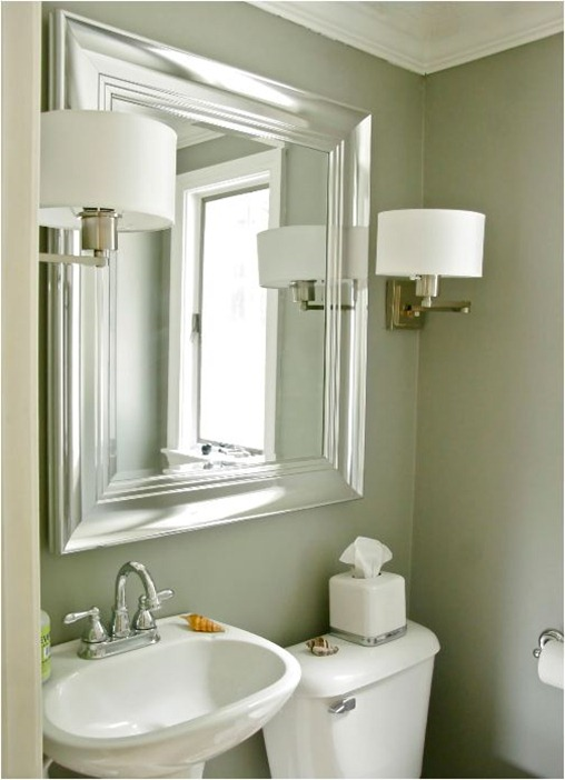 bathroom sconces and mirror stephen saint onge
