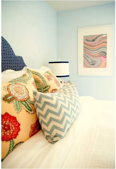 danielle oakey marbled art in frame via houseoffifty