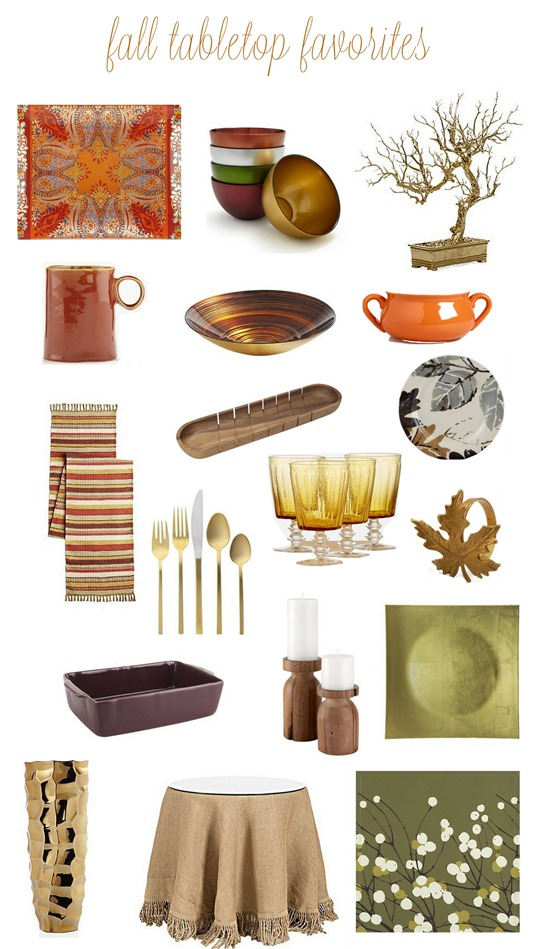 fall tabletop favorites 2012