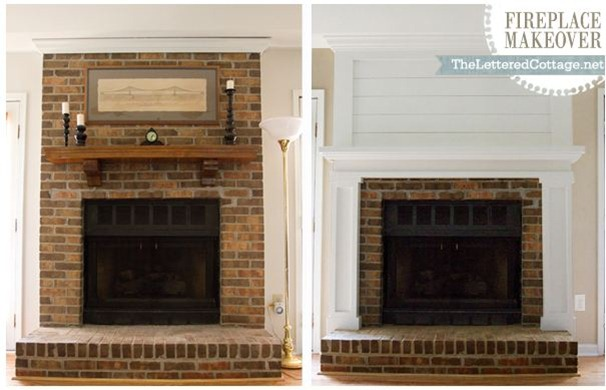 fireplace makeover tlc