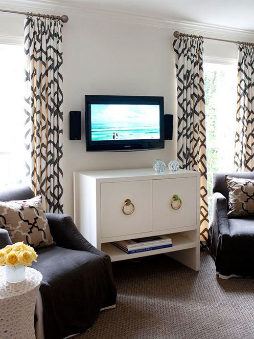 9 ways to design around a tv centsational girl Home garden tv