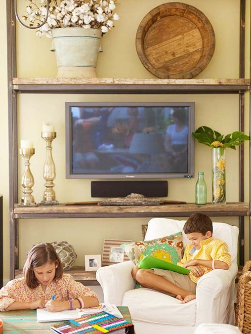 9 Ways To Design Around A Tv Centsational Girl: home garden television