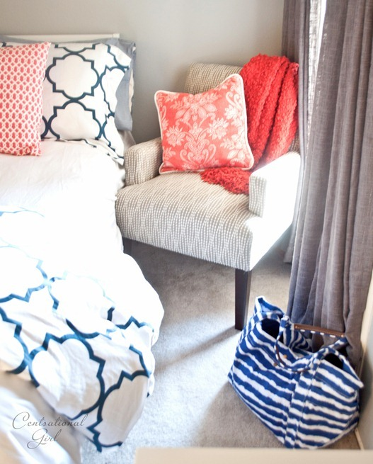 gray chair coral throw cg