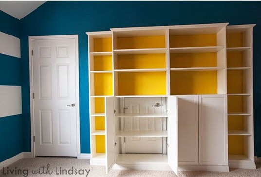 living with lindsay bookcases