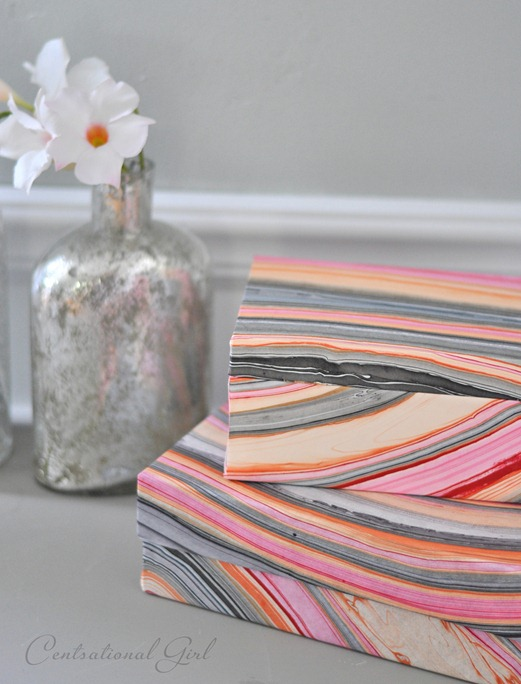 marbled paper wrapped boxes cg