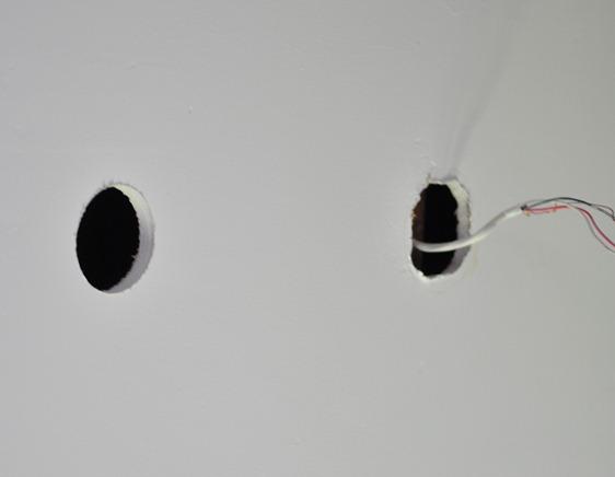 new hole with hole saw