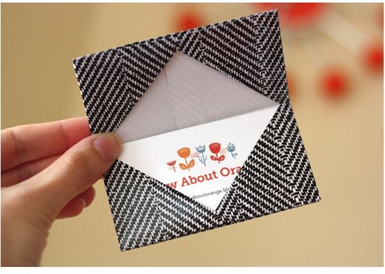 origami gift business card holder howaboutorange