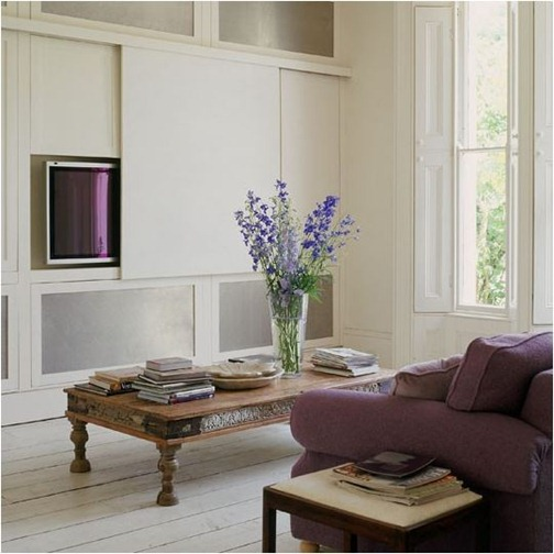sliding panel for hiding tv housetohome