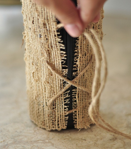 tie back with jute twine