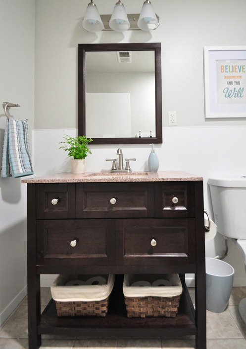 Vanity Front View : Alma project bathroom remodel centsational girl