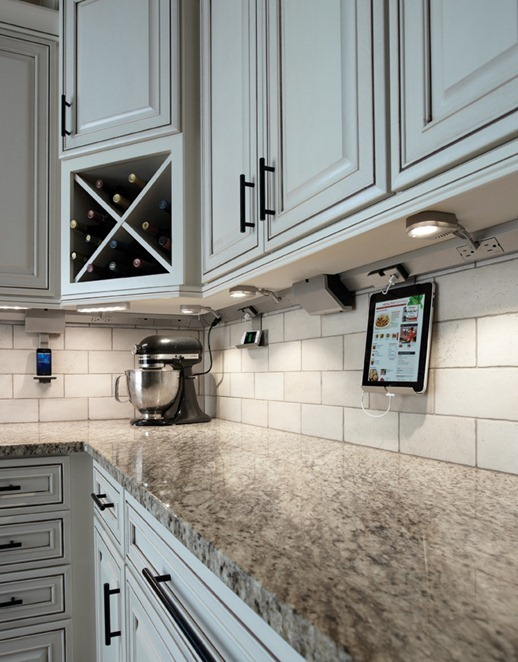 adorn track lighting tablet cradle
