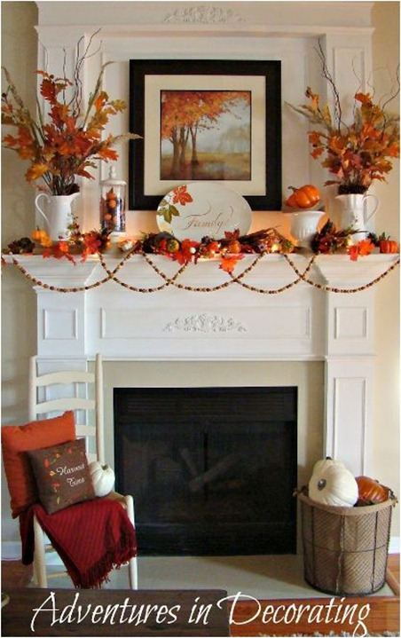 gallery for fall decorating ideas for mantle