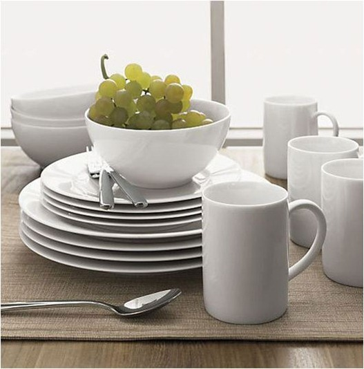 budget basics simple white dinnerware apt therapy