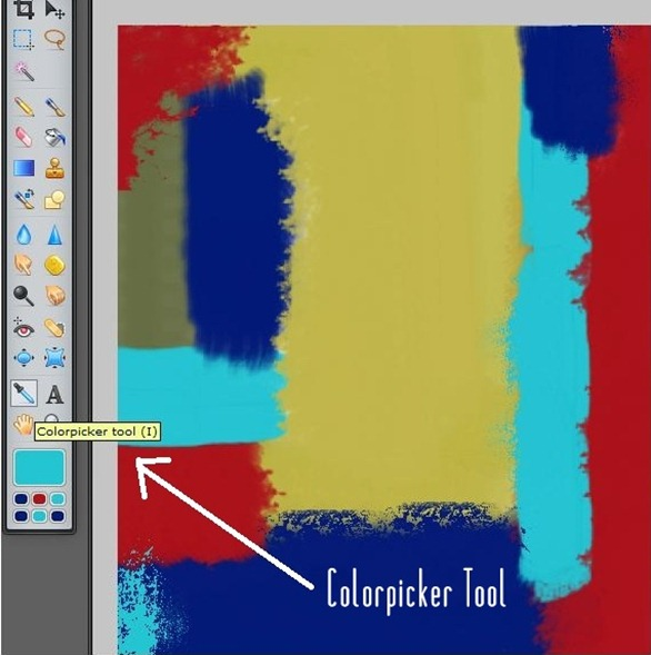 change colors with colorpicker tool