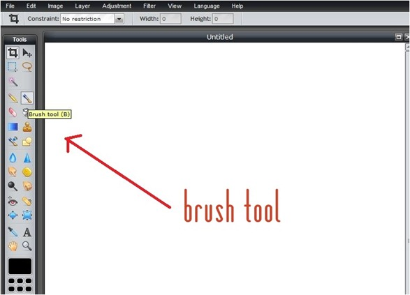 click on brush tool