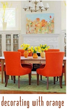 decorating with orange bhg