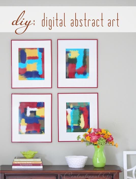 diy digital abstract art
