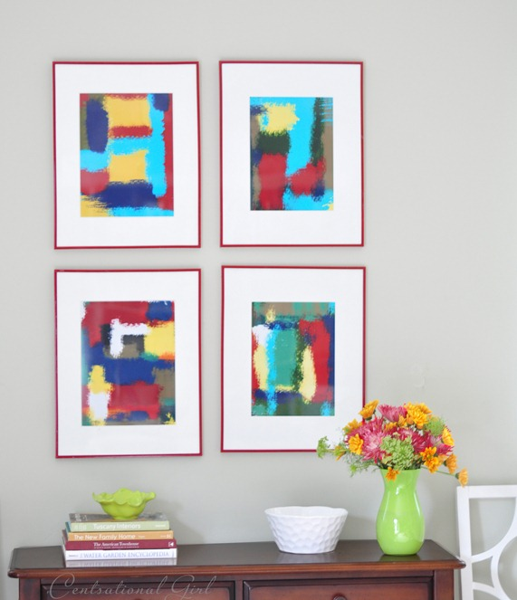 diy framed abstract art
