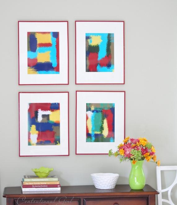 diy framed abstract art