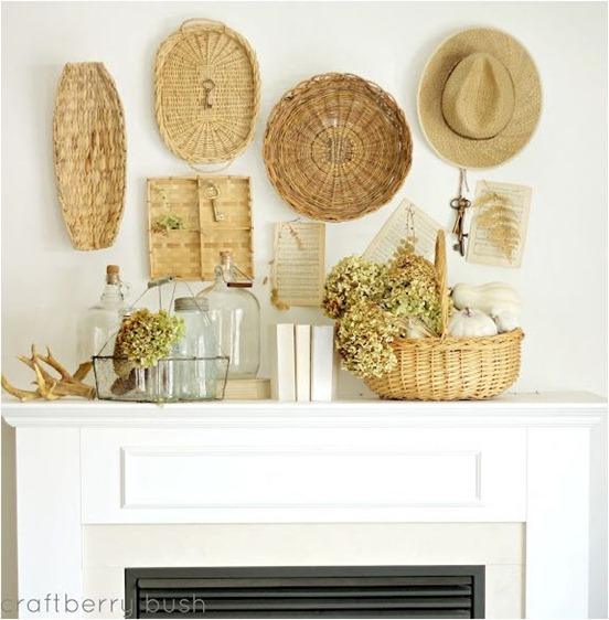 fall mantel craftberrybush