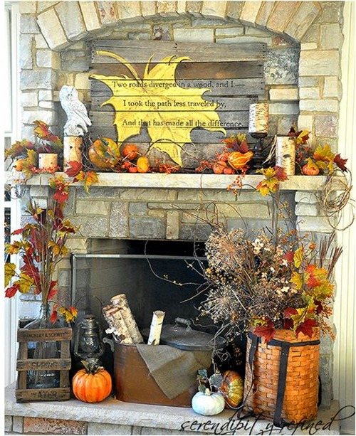 fall mantel serendipityrefined