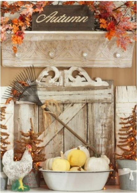 fall mantel sugarpiefarmhouse