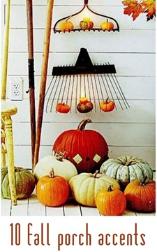 fall porch accents bhg