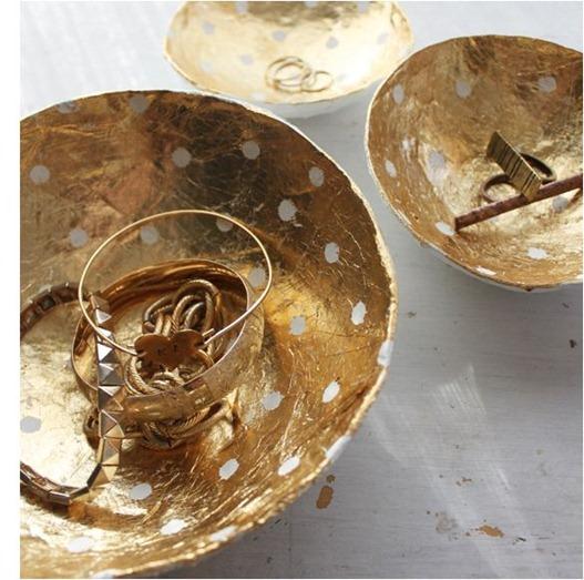 gold leaf paper mache bowls kellimurray