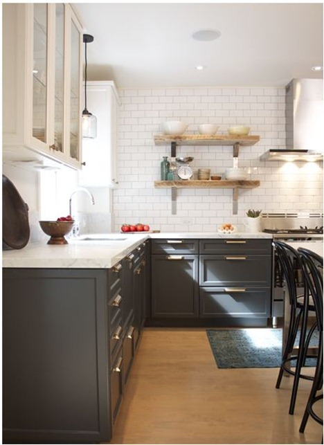 gray and white cabinets houseandhome
