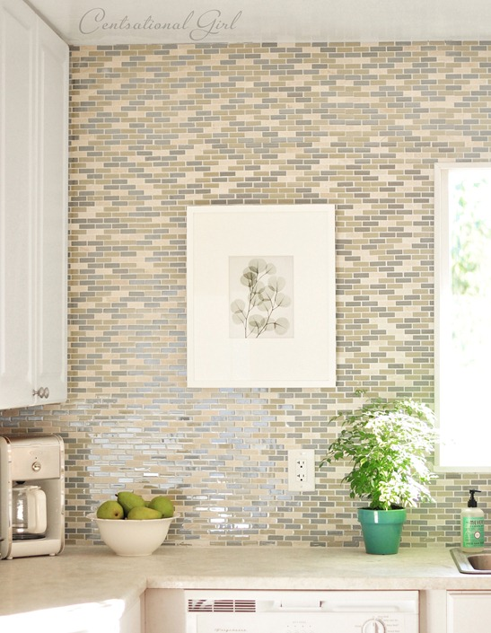 green blue backsplash tile centsational girl