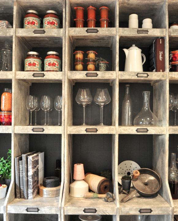 kitchen shelving up close