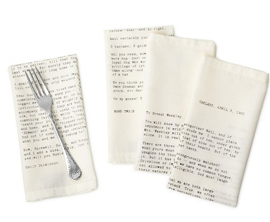 love letter napkins uncommon goods