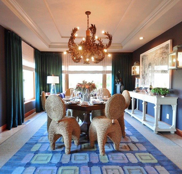 napa showhouse dining room