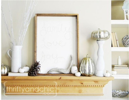 neutral and natural mantel thriftyandchic