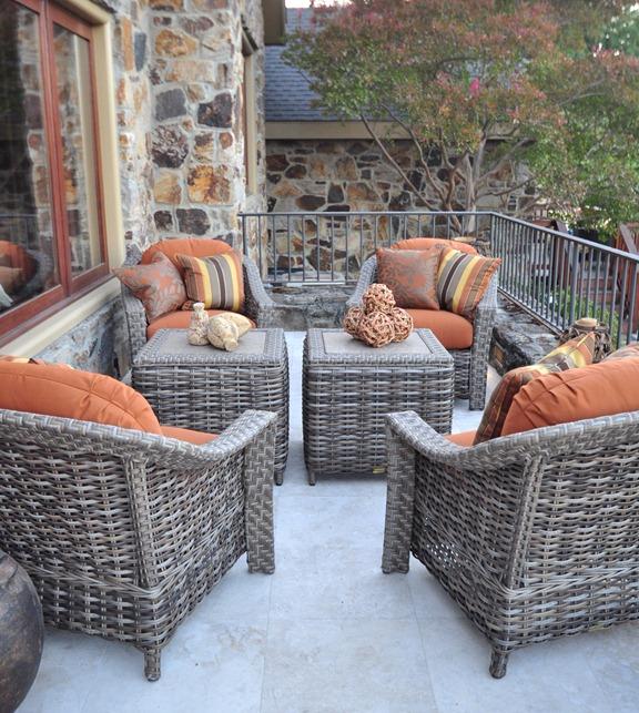 outdoor balcony off living room
