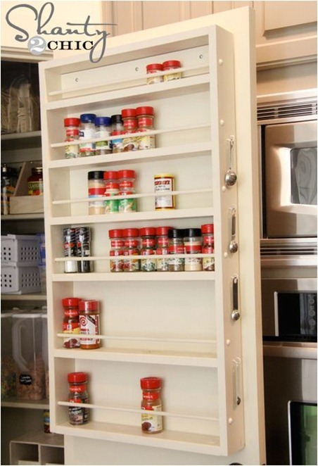 pantry door spice rack shantytochic