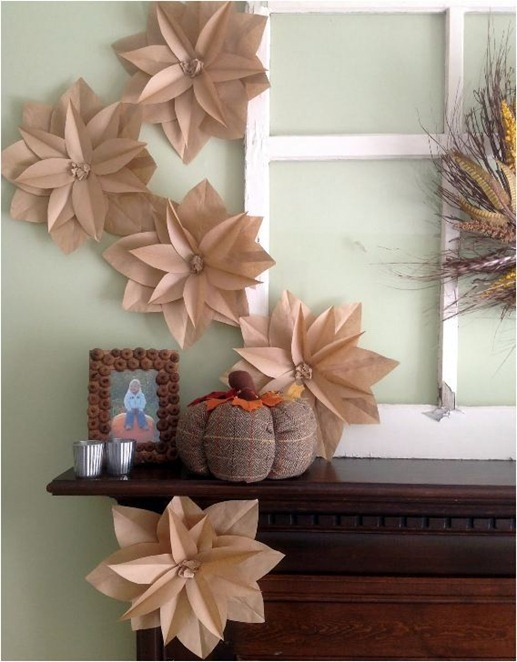 paper bag flowers homemademodern