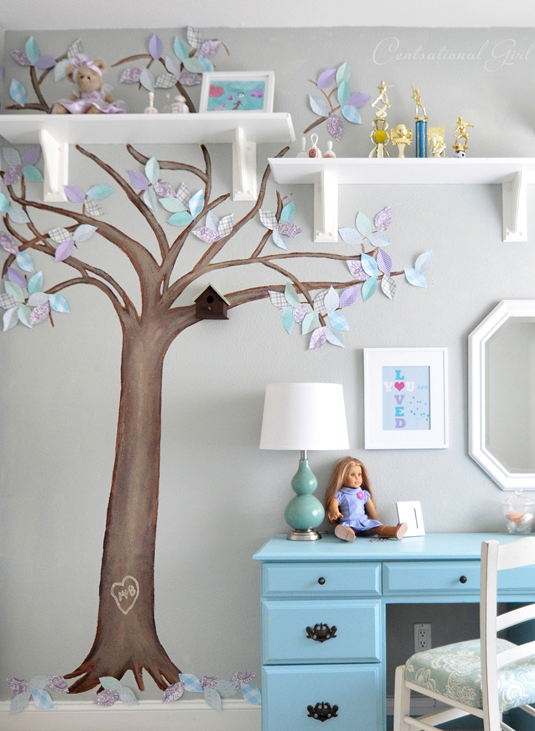 paper leaf tree mural centsational girl