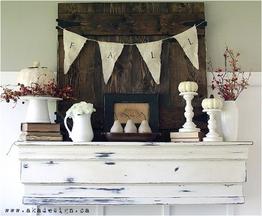 simple fall mantel akadesign