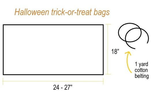 simple sew treat bags supplies