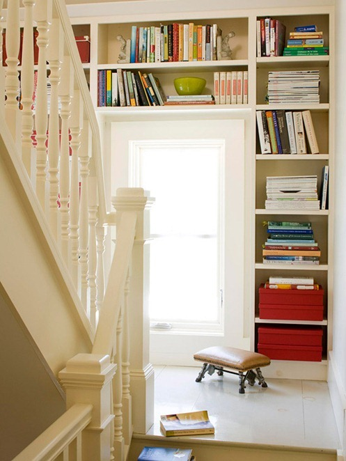 storage around staircase bhg