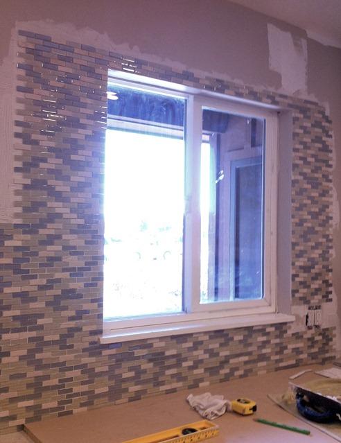 Subway Tile Around Kitchen Window