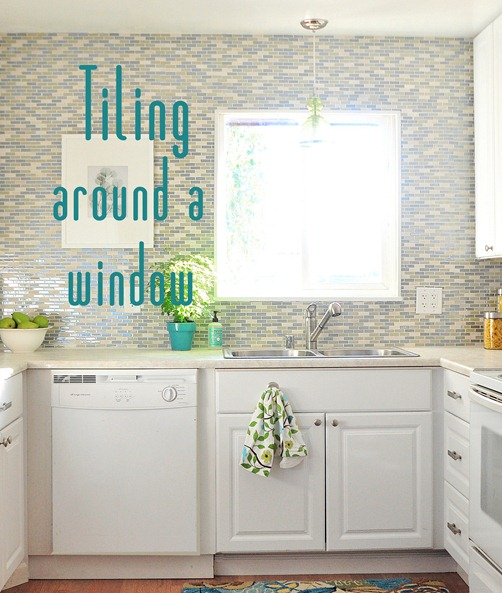 tiling around a window