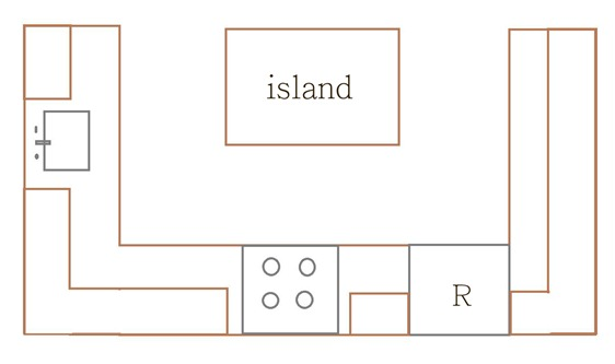 island shaped kitchen layout drawing lower versus inner outer centsational style 838