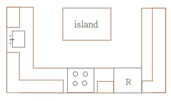 u shape kitchen plan