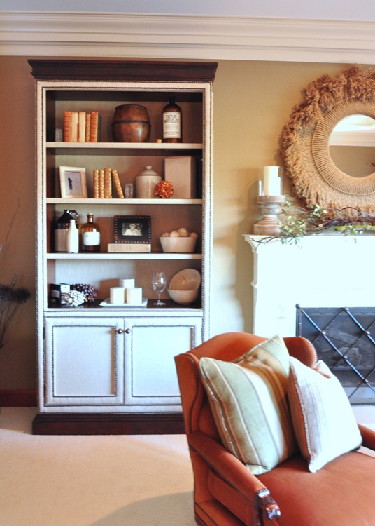upholstered bookcases
