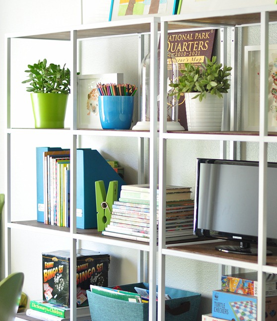 white painted vittsjo shelving