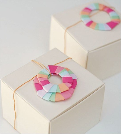 a subtle revelry paper wreath